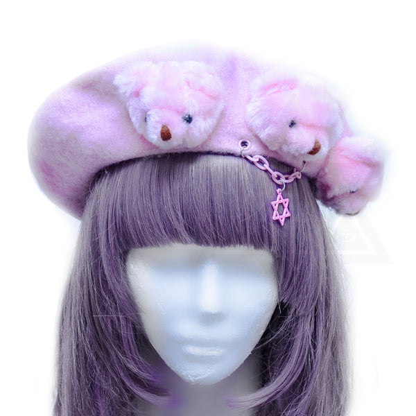 Pink little bears beret*