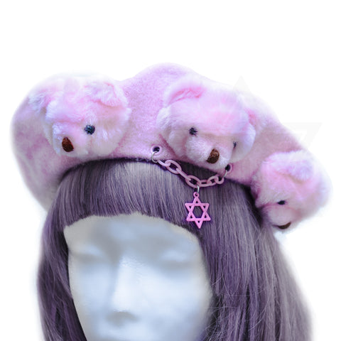 Pink little bears beret *