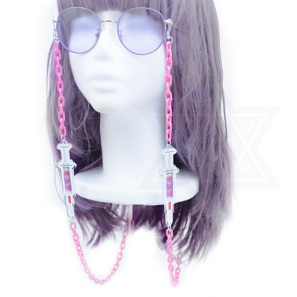 Strawberry injection glasses chain