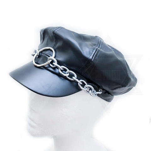 O ring leather hat