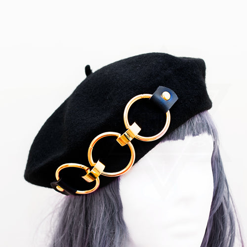 Golden rings beret