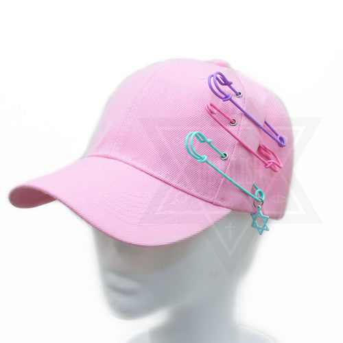 Pastel hexagram cap
