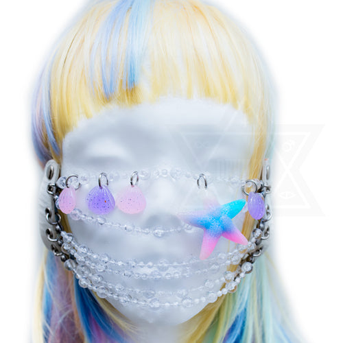 Mermaid beads mask