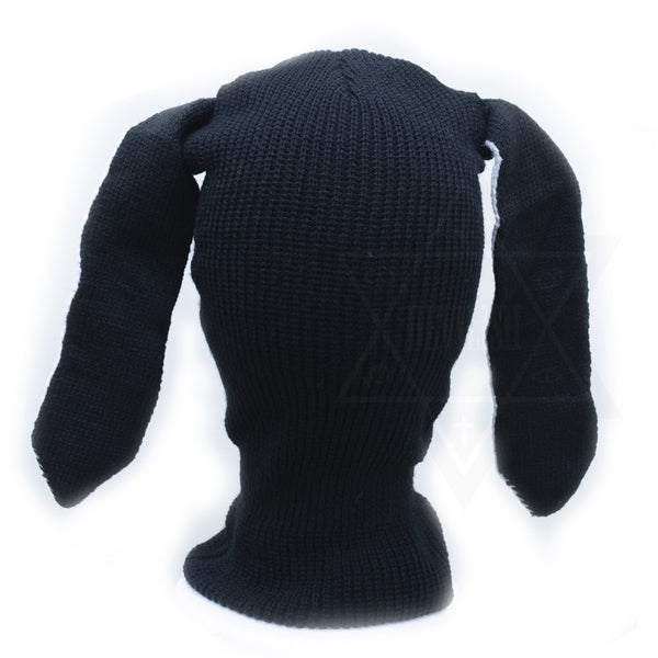 Black rabbit beanie mask *