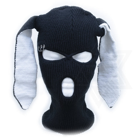Black rabbit beanie mask