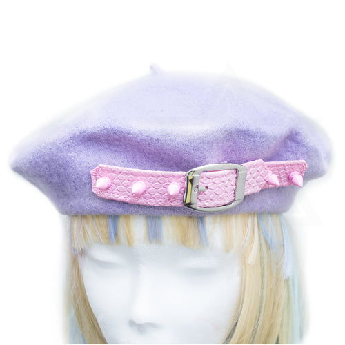 Spiky girl beret
