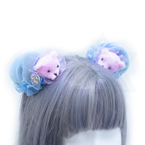 Pink little bears hair bun Covers