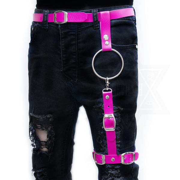 Bandage leg harness (hot pink)