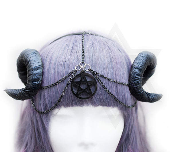 Pentagram horns hairband