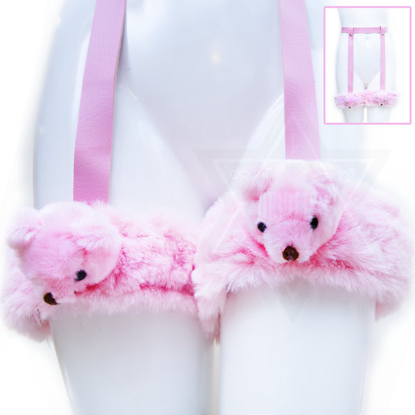 Pink little bears garter belt