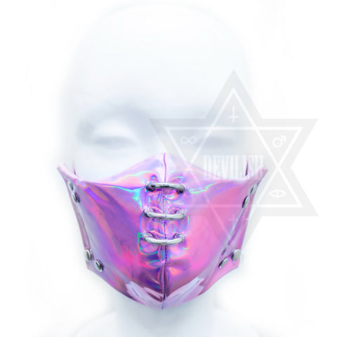 Pink in space mask*