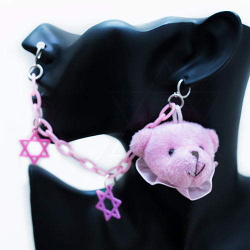 pastel bear nose clip set