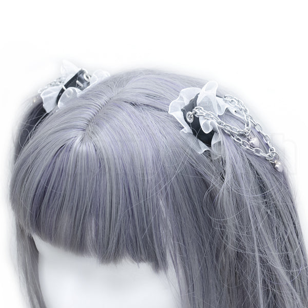Heavy love twin tail hair harness