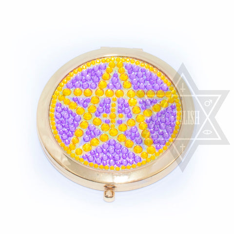 Diamond pentagram Double mirror(Pink,Purple)
