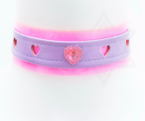 Diamond heart choker