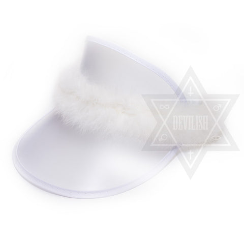 Fluffy Visor(White,Purple,Pink)