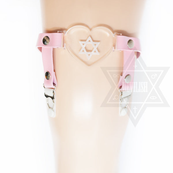 Pure hexagram garter(Blue,Pink)
