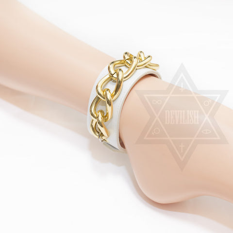 Goldenchain Ankle cuff(White,Black)