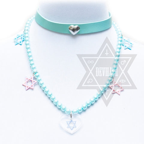 Pearl hexagram necklace