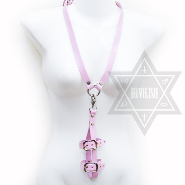 Phone harness necklace(Black,Pink)
