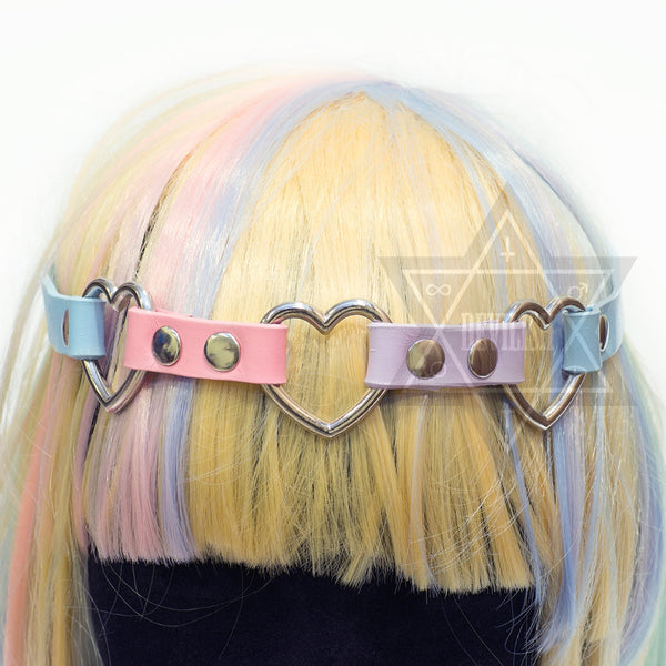 Pastel heart hairband