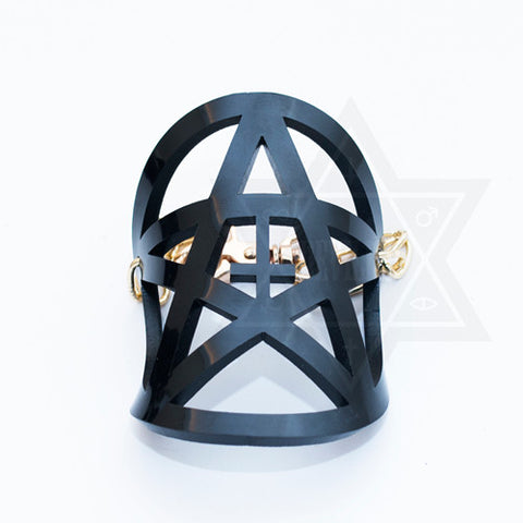 Pentagram shield bracelet(Black,Clear)