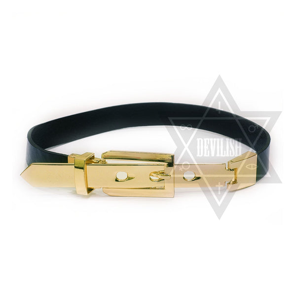 Metal gold choker