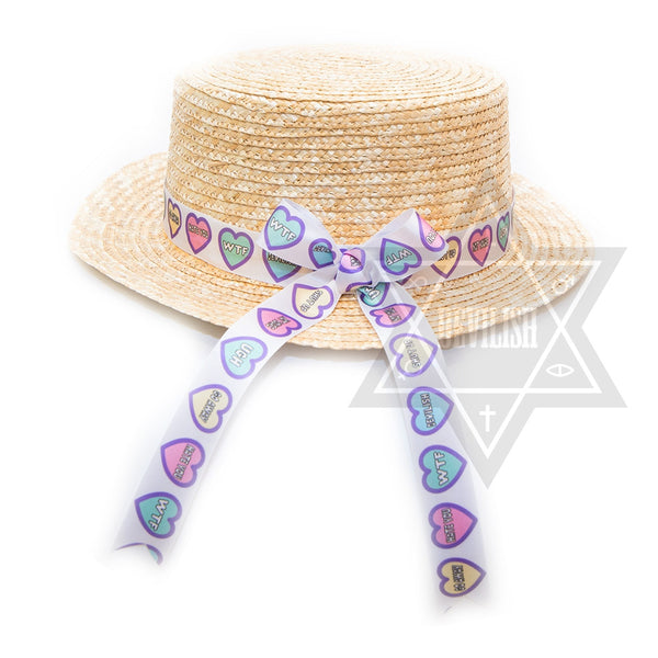 PUNKY HEART STRAW HAT