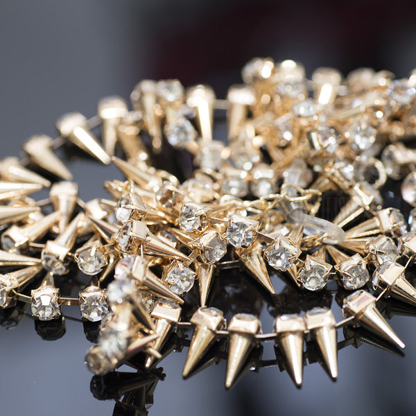 Sparkling spikes glasses chain(Silver,Gold)