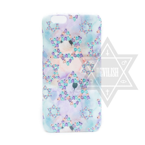 Pastel bear phone case