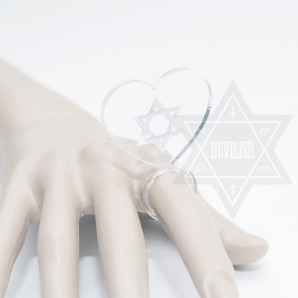 Pure hexagram Ring