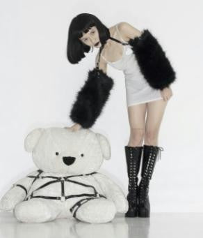 Fur Sleeves harness(White,Black)