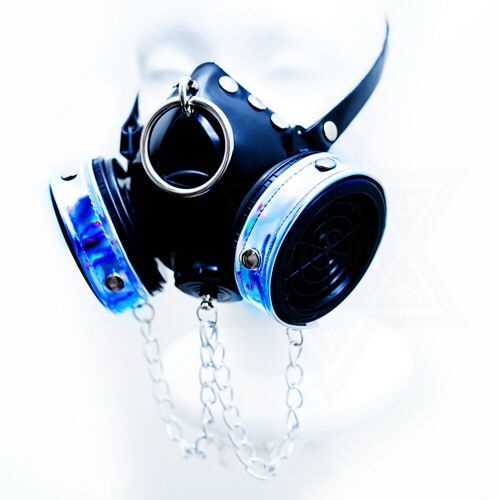 Cyber punk gas mask