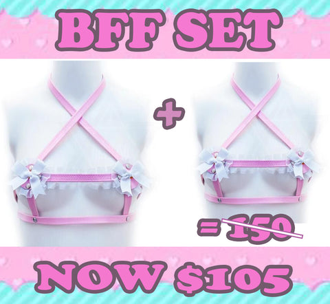 Baby doll harness BFF set*
