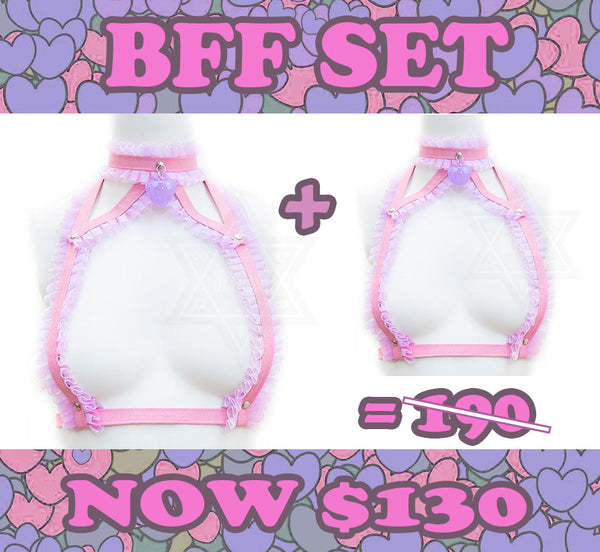 Love me tender harness BFF set