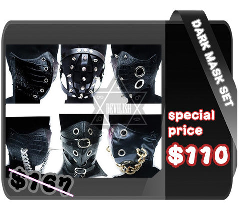 Dark masks set