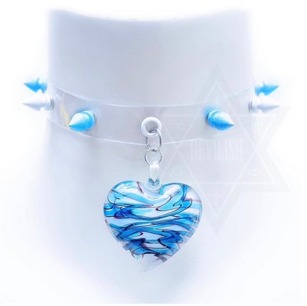 Clear heart choker