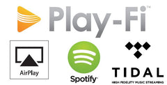 DTS Play-Fi, Airplay, Spotify, Tidal