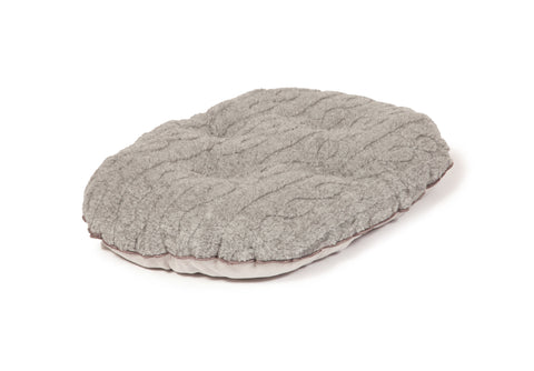 Bobble Soft Pewter Quilted Dog Mattress