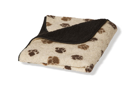 Beige Sherpa Fleece Dog Blanket