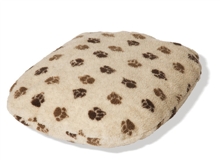 Beige Sherpa Fleece Fibre Dog Bed