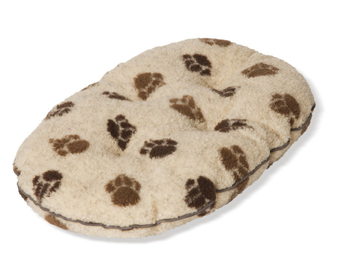 Beige Sherpa Fleece Quilted Dog Mattress