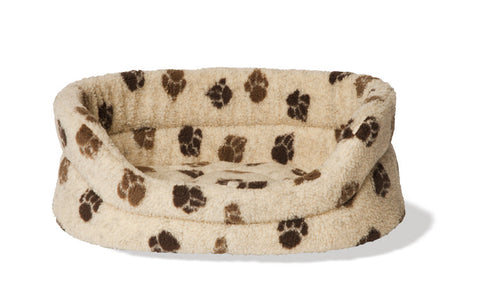 Beige Sherpa Fleece Slumber Dog Bed
