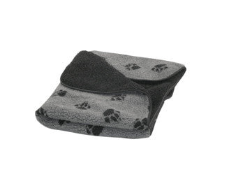 Grey Sherpa Fleece Dog Blanket