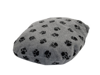 Grey Sherpa Fleece Fibre Dog Bed