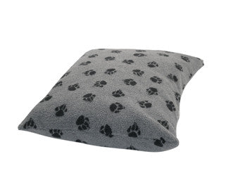 Grey Sherpa Fleece Extra Thick Duvet Dog Bed