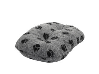 Grey Sherpa Fleece Quilted Dog Mattress