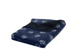 Navy Sherpa Fleece Dog Blanket