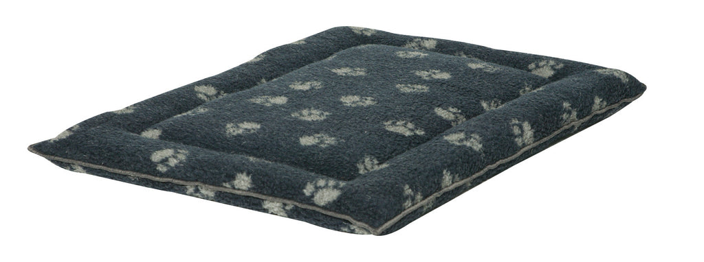 Navy Sherpa Fleece Dog Cage Mat
