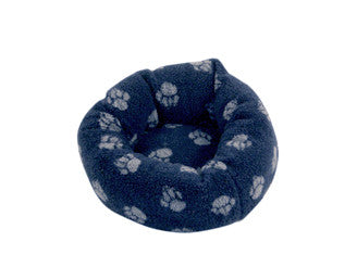 Navy Sherpa Fleece Cushion Dog Bed 20""